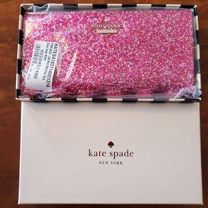 Kate Spade Stacy Glitter Bug Wallet